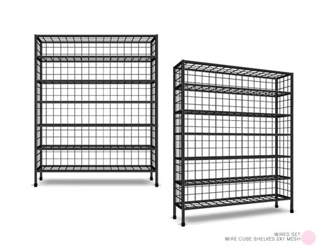 dot s wire cube shelves 2x1 mesh