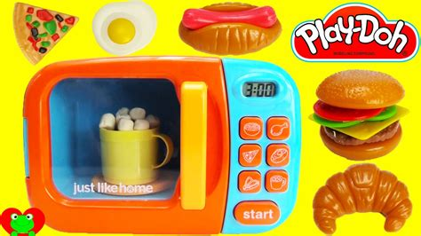 just like home realistic working microwave playset
