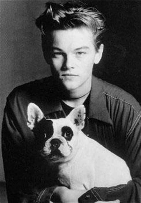 leonardo dicaprio biography in french a young leonardo dicaprio with his first french bulldog