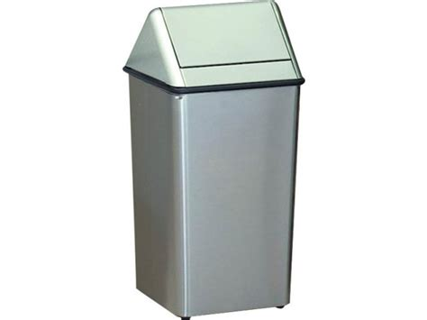 Stainless Steel Swing Top Trash Can 36 Gal Indoor Trash Cans