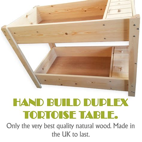 Duplex Tortoise Table For Sale Made In Wood