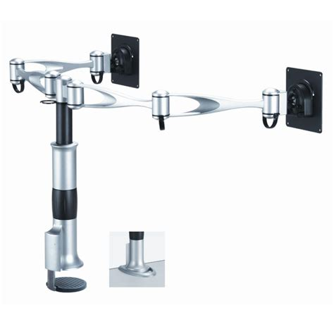 dual monitor desk mount dual swing arm monitor mount