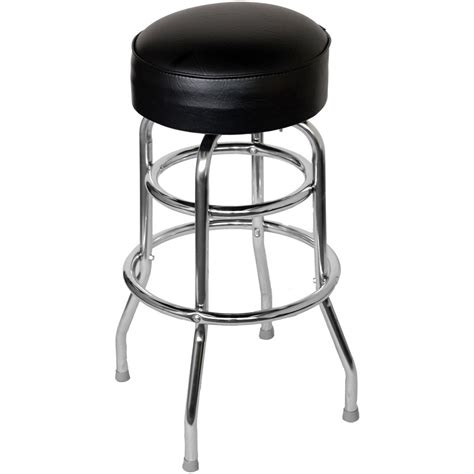 chrome bar stools chrome bar stool with a single double ring