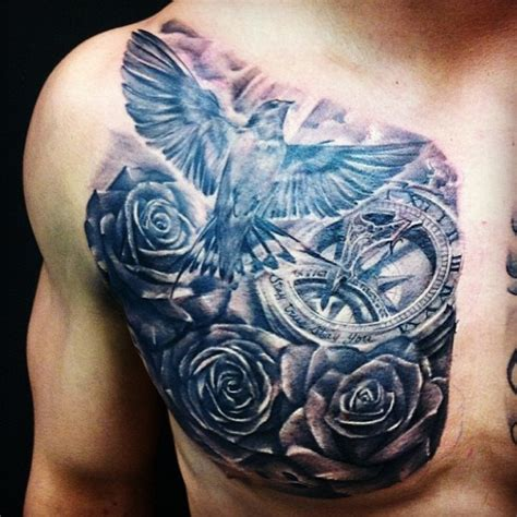 dove chest tattoos dove images designs