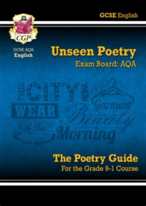 new grade 9 1 gcse english literature aqa unseen poetry guide book 1 cgp books 9781782943648