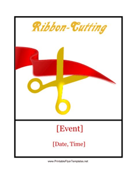 ribbon cutting template ribbon cutting ceremony