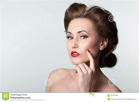 images of women in their forties with gray hair beautiful vintage woman portrait with forties hairstyle