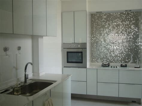 metallic backsplash tile 50 kitchen backsplash ideas