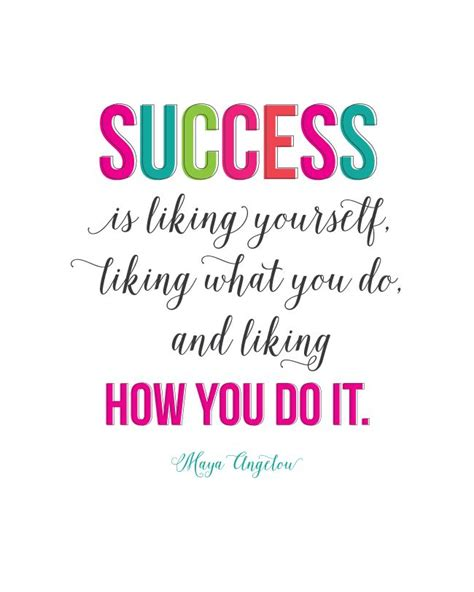 Printable Success Quotes | sunday encouragement success quote by maya angelou