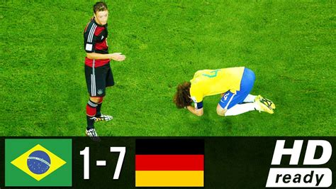Brazil Vs Brazil Vs Germany 1 7 World Cup 2014 All Goals