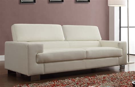White Bonded Leather Sofa by Homelegance Vernon Sofa White Bonded Leather 9603wht 3