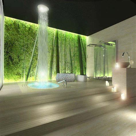 ceiling waterfall bathroom decor