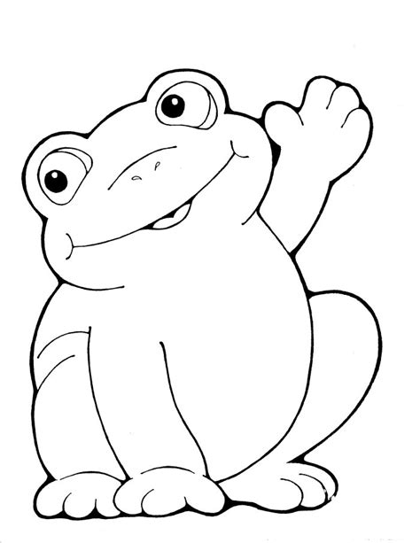 Coloring Page Of A Frog Coloring Pages For Kids Frog Coloring Pages by Coloring Page Of A Frog