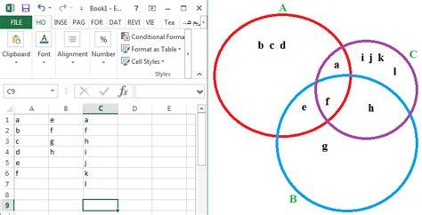 venn diagram maker excel venn diagram in excel