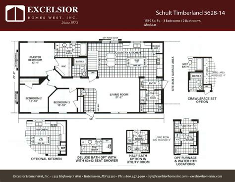 schult timberland 5628 53 excelsior homes west inc schult timberland 5628 14 excelsior homes west inc