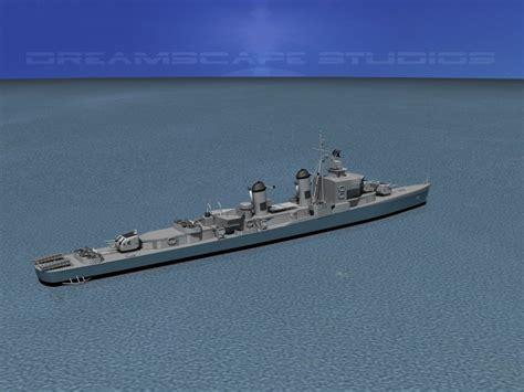 uss buck sumner class destroyer dd 761 uss buck 3d model rigged max