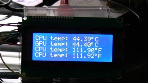 cpu fan temp monitor i2c 20x4 lcd cpu and gpu temperature