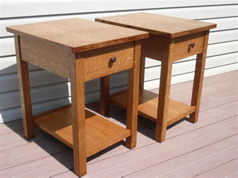 craftsman style end tables craftsman style end tables woodworking creation by tim