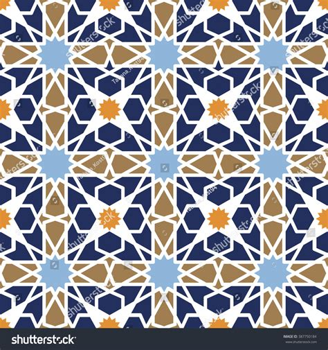abstract arabic pattern seamless patternvector abstract backgroundarabic islamic