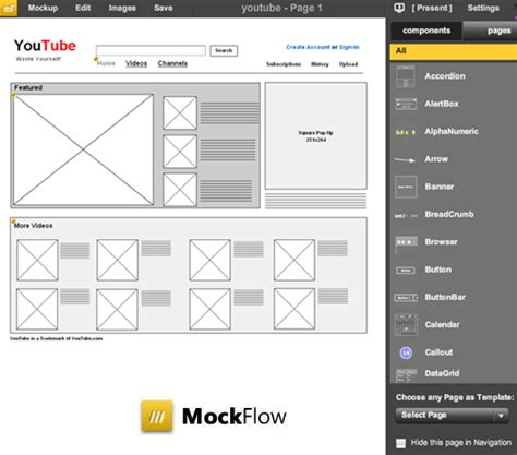 free wireframe tool mockflow tool for creating wireframes of software