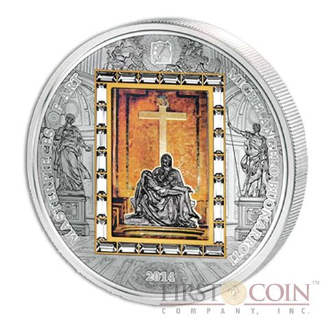 michelangelo basic art series 3836530341 cook islands michelangelo pieta 20 premium edition of masterpieces of art series 3oz silver