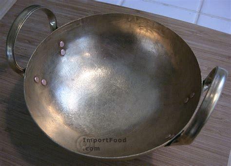 Handmade Wok - handmade solid brass thai wok importfood