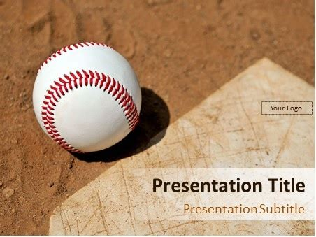 Download Baseball On The Field Powerpoint Template Powerpoint Templates Baseball