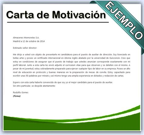 carta de motivacion modelo que es carta formal auto design tech