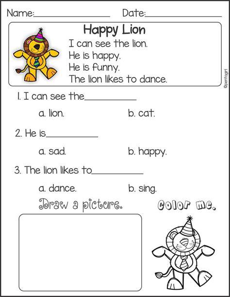 kindergarten activities reading 84 best kindergarten reading comprehension passages images