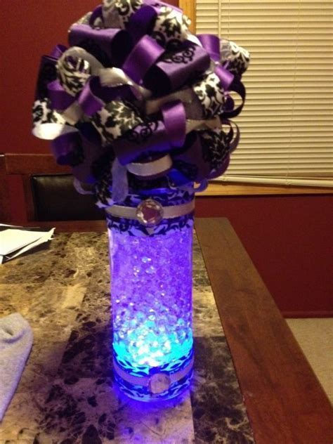 A centerpiece featuring what looks like water beads