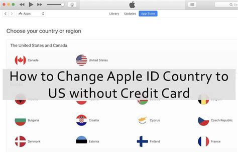 how to make a apple account without credit card change apple id country to us without credit card free