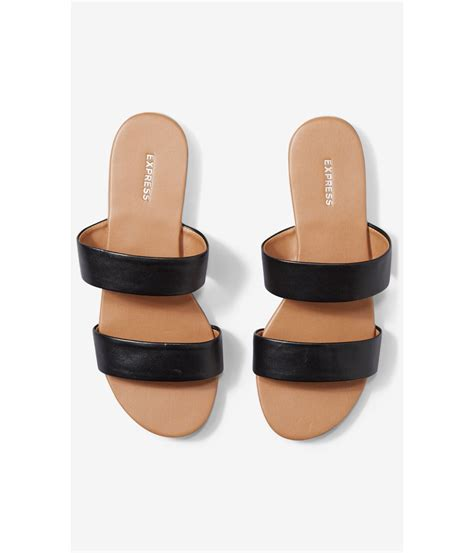 express sandals lyst express two slide sandals in black