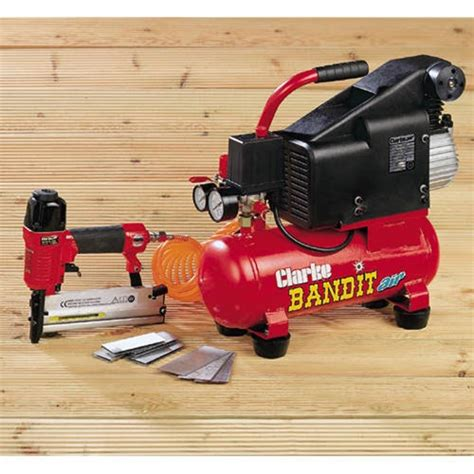 upholstery staple gun air compressor clarke bandit air compressor nail staple gun kit 187 product