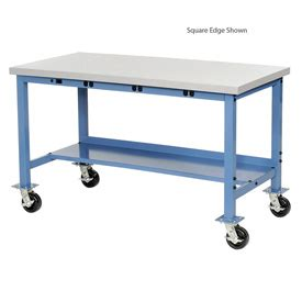 mobile lab bench laboratory work bench mobile 60x36 plastic safety edge