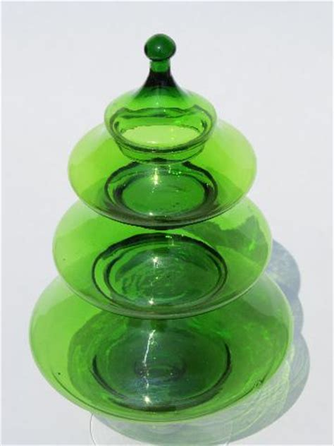 christmas tree candy dish west virginia blown glass tree stacking dish in green