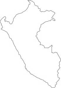 outline map of peru outline map