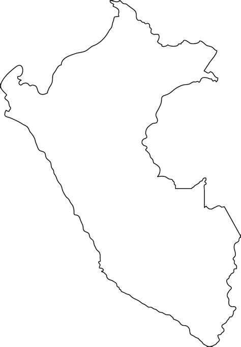 printable country shapes peru outline map