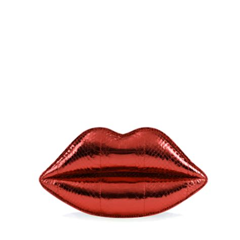Lulu Guinness Snakeskin Lip Clutch by Lulu Guinness Clutches Now On Sale Up To 50