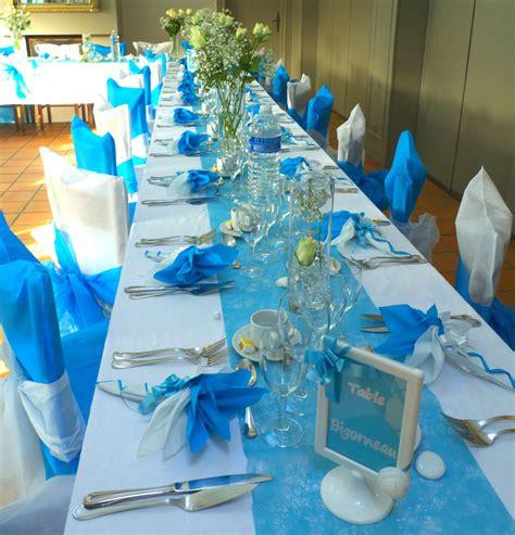 Decoration De Table Bleu Turquoise by D 233 Co De Table En Bleu Turquoise Et Blanc Wedding