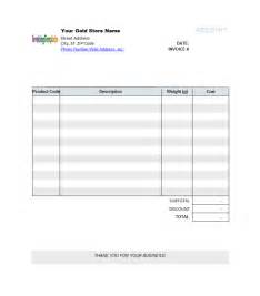 Invoice Template Word by Blank Invoice Template Microsoft Word Templates