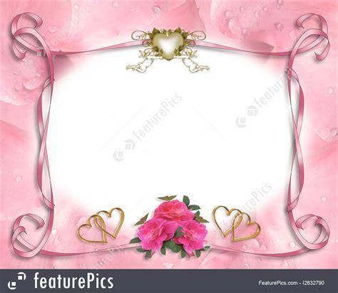 Wedding Album Border by Wedding Invitation Border Pink Roses Illustration