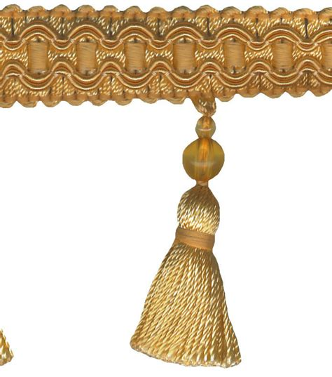 home decor trim signature series 2 5 daffodil tassel