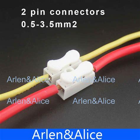 3 Pin Besar Push Cable Connector Terminal Wiring 10a 250v Berkua aliexpress buy 100pcs 2 pin push cable