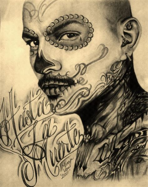 cholo tattoos pin cholo drawings on