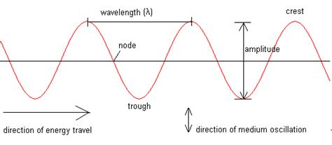 labelled diagram of a transverse wave all of the parts in a transverse wave waves in science