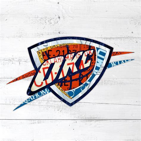 Home Decor Okc by Okc Thunder Basketball Team Retro Logo Vintage Recycled