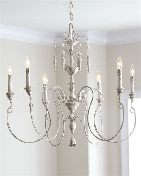 Horchow Chandeliers Salento Six Light Chandelier Contemporary Chandeliers By Horchow