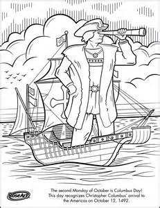 columbus day coloring page columbus day pinterest