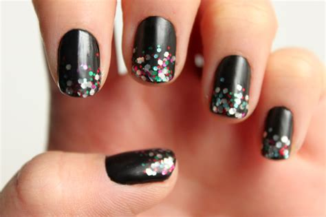 nail art ombre glitter tutorial manicure monday glitter ombre nails with syl and sam