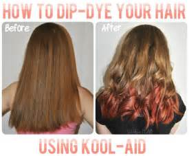 Should Hair Be Washed Before Coloring - how to dip dye your hair with kool aid long hairstyles